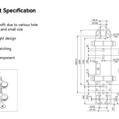 Hafex umlaut Bracket Specification