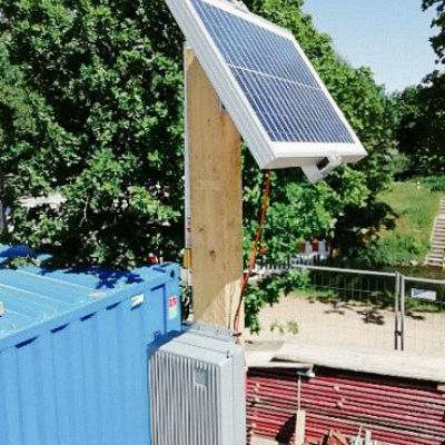 Cloud-based concrete monitoring – Gateway with solar cell