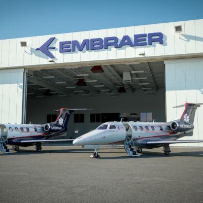 Phenom 300 MED MEDEVAC Hangar